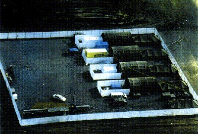 The RYDER truck alleged to have been used by McVeigh photographed in what is said to a secret US government compound, days prior to the actual OKC bombing.