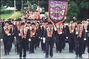 Pictured above: and Orange Order march in N. Ireland.