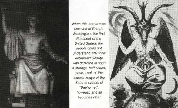 Was George Washington's statue consciously modelled on the figure of Baphomet?