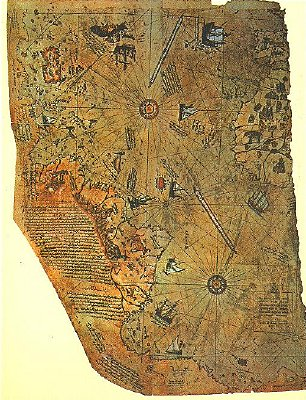 Above: The Piri Reis map