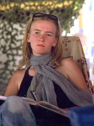 Above: peace activist Rachel Corrie pictured in a November 2002 photo<br />