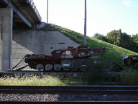 Another of the destroyed radioactive tanks in Topeka, Kansas. Children were playing around the tanks. Photo: Chris Bayruh