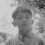 The writer as a boy