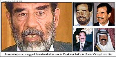 Note the varied dental work on these 'Saddam Husseins.