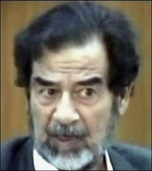 Another Saddam Hussein at his recent court appearance.