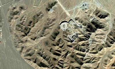 Satellite veiw of Qom enrichment facility