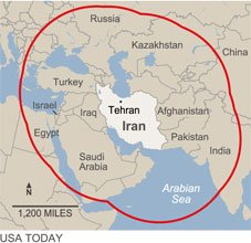 Israel is well within range of Iran's missiles