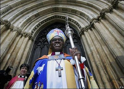 Archbishop John Sentamu shortly after being appointed Archbishop of York