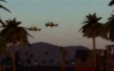 Photo of two puported UFO's which accompnied the Independent article.