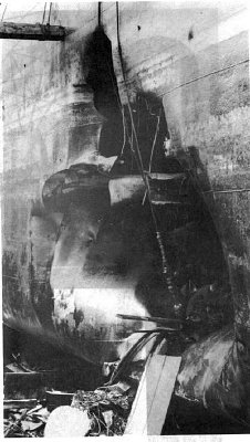 USS Liberty in dry dock in Malta
