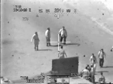 U.S. pilot seen firing on people in Iraq