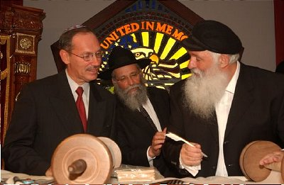 Dov Zakheim (left) is also a trained rabbi.