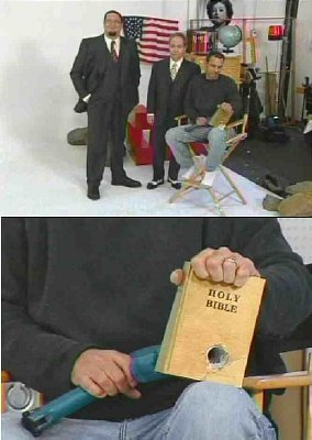 Penn & Teller, Mark Wolper, Warner Bros., and Viacom rape the Holy Bible on prime time television to show their hatred and contempt for the Truth.