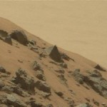 Still from video footage shot by NASA's Mars Curiosity rover.