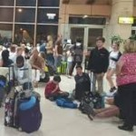 British holidaymakers wait at Sharm el-Sheikh after flights suspended. The speed with which Britain suspended flights suggested Britons could be targeted too. Thereby helping to divert attention from the real culprits?