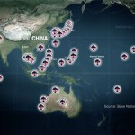 More than 400 American military bases encircle China with missiles bombers warships and nuclear weapons. Click to enlarge