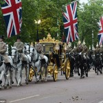 Royal carriage procession down the Mall. Click to enlarge