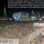 Aftermath: Las Vegas shooting scene. Click to enlarge