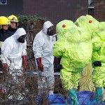 Biological warfare team in the aftermath of the Skripal's poisoning. Click to enlarge