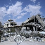The Barzeh facility, which the West claims was a centre for chemical weapons and  which Syria claims was a medical research facility, was hit by Western airstrikes. Click to enlarge