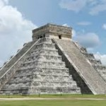 Pyramid at Chichén Itsá. For scale, note people at lower left.