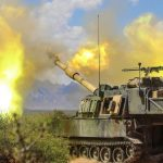 US artillery units hone their gunnery skills during an exercise near Dona Ana, New Mexico, April 28, 2018. Click to enlarge
