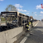 What remained of the school bus after the driver tried to incinerate his passengers. Click to enlarge