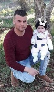 Mohammed Abdel Fattah with his 7-month-old daughter. click to enlarge