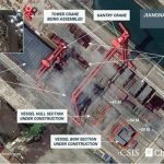 Satellite photo of Chinas 3rd carrier in Jiangnan shipyard in Shanghai. Click to enlarge