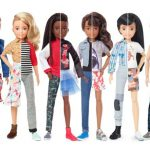 Helping promote the idea of gender fluidity: 'gender neutral' Barbie dolls. Click to enlarge