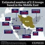 U.S. bases in the Middle East as of Jan 2020. Click to enlarge