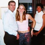 Prince Andrew, 16-year-old Virginia Roberts and Ghislaine Maxwell. Click to enlarge