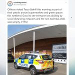 """Second UK Police Force Threatens to Check if Public Are Making """"Non-Essential"""" Purchases"""